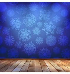 Frozen interior christmas background EPS 10 vector