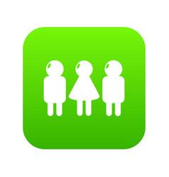 girl boy icon green vector image