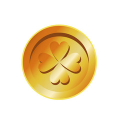 Golden coin st patricks day treasure image vector