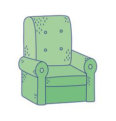 Green sofa furniture comfort icon design vector