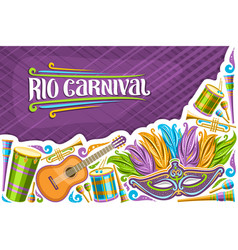 Greeting card for rio carnival vector