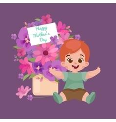 greeting cart baby boy Happy vector image