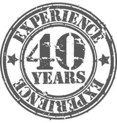 Grunge 40 years experience rubber stamp vector