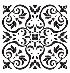 Hand drawing decorative tile pattern Italian vector image