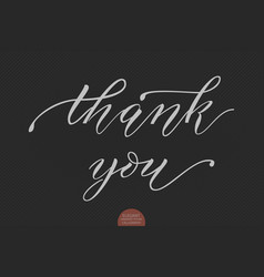 Hand drawn lettering thank you vector