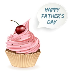 Happy Fathers Day Cupcake vector image