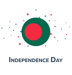 Independence day of bangladesh patriotic banner vector