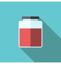 Jar of jam icon vector image