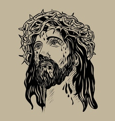 Jesus Christ Face vector