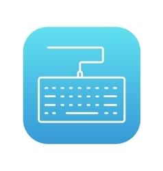 Keyboard line icon vector