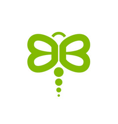 Lettermark bb initials dragonfly symbol design vector