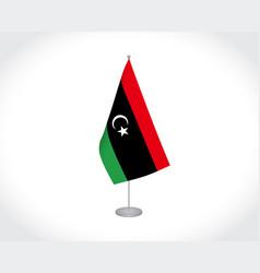 Libya flag on white background vector
