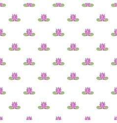 Lotus flower pattern cartoon style vector