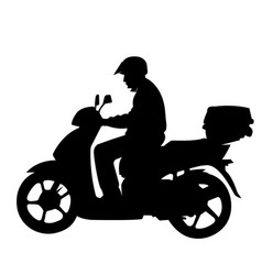 man on a motorycle vector image