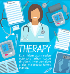 Medical therapy or meicine poster vector