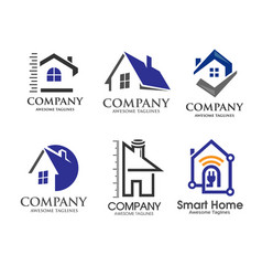 Modern house and real estate logo vector