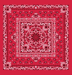 Ornament paisley bandana print silk neck vector