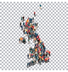 People map country United Kingdom vector