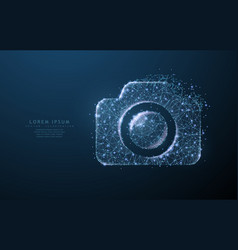 photo camera abstract polygonal wireframe vector image
