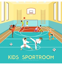 Poster Of Kids Sportroom vector