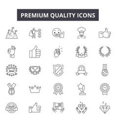 premium quality line icons signs set vector image