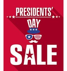 Presidents day retro background vector