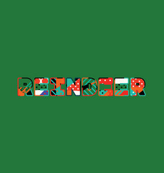 reindeer concept word art vector image