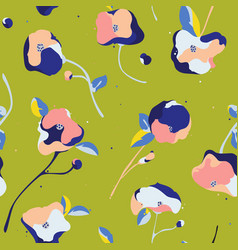 seamless pattern with beautiful abstract vector image