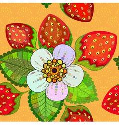 Seamless vivid spring floral pattern vector