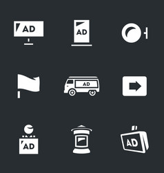 set advertising icons carriers and vector image