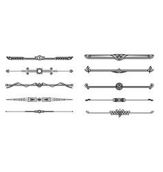set decorative border vector image