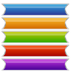 Set of colorful buttons banners or plaques vector