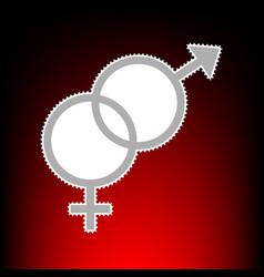 Sex symbol style vector