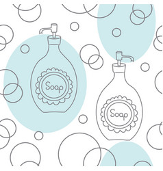 soap and bubbles-spa in the countryseamless vector image