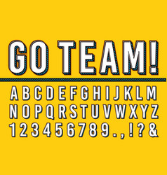 Sport letters font college sports team typography vector