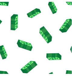 stacks dollar cash seamless pattern background vector image