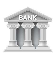 Stone building bank vector