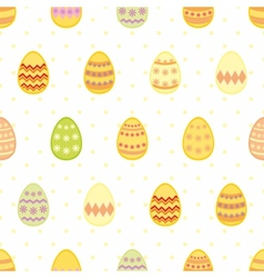 Tile pattern with easter eggs and yellow polka dot vector image