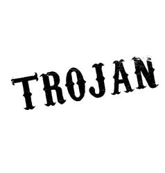 Trojan rubber stamp vector image