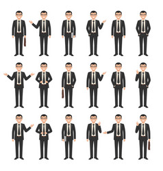 collection of a young businessmen vector image vector image