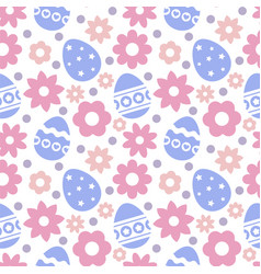 eastern seamless pattern with eggs and flowers vector image