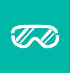 Ski goggles icon on background vector image
