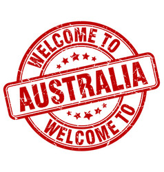 welcome to australia vector image vector image