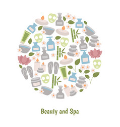 beauty and spa design concept beauty and spa vector image vector image