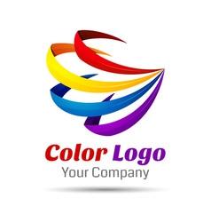 Colorful 3d Volume Logo Design Icon Concept vector image