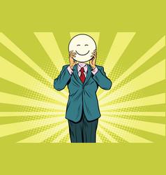 joy smile man smiley emoji face vector image