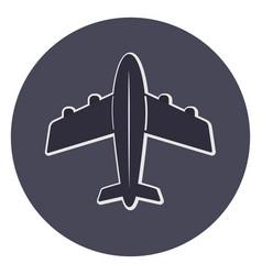 plane icon top view vector image vector image