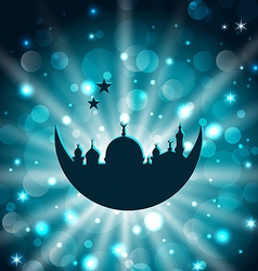 Ramadan celebration islamic card with architecture vector image vector image