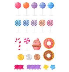 tasty sweets isolated collection vector image