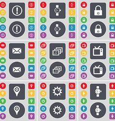 Information Wrist watch Lock Message Gallery Retro vector image vector image